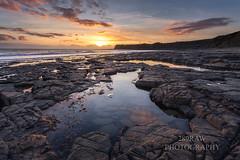 Jurassic sunset (289RAW) Tags: sunset seascape clouds landscape dorset jurassic purbecks 289raw