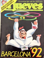 """""""El Jueves"""", 442. (13/11/85). #Barcelona '92. #humor #revistas #periodismo #eljueves #comics (vizcarrashop) Tags: 442 barcelona humor revistas periodismo eljueves comics"""