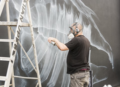Close Up (CarolynEaton) Tags: streetart upfest shok1 spray bristol