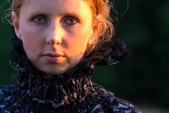 The Lady of the Manor (fstop186) Tags: ladyofthemanor portrait beautiful girl woman goldenhour sidelight blueeyes blue eyes costume drama karen