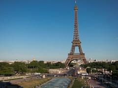 Eiffel Tower (Visual Coyote) Tags: 2016 paris champdemars eiffeltower eurotour fountain france park trocadero urban