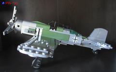 LEGO German WWII Plane FW-190 (dmikeyb) Tags: plane airplane fighter lego military wwii german ww2 bomber fw190 dogfights
