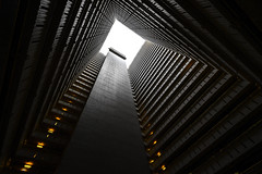 The abyss (urbanexpl0rer) Tags: hongkong china lookup towardsthesky architecture building urban symmetry depth square tower