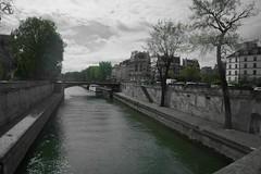 Paris en vert (Tanguy 8) Tags: paris desaturation partielle vert seine