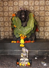 r Mrut (Shrimaitreya) Tags: maruti hanuman hindu hinduism bharat bhakti pune maharashtra india maringold garland shrine streetshrine waysideshrine popularreligion