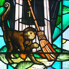 St Martin de Porres's monkey (detail) by John Lawson, 1974 (Simon_K) Tags: stpancras catholic rc ipswich suffolk eastanglia church churches roman