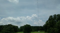 Clouds And Trees. (dccradio) Tags: fairmont nc northcarolina robesoncounty clouds sky tree trees greenery nature outside outdoors ominous radiotower