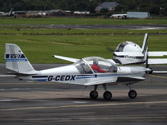 G-CEDX EV97 (Aircaft @ Gloucestershire Airport By James) Tags: james airport gloucestershire lloyds ev97 egbj gcedx