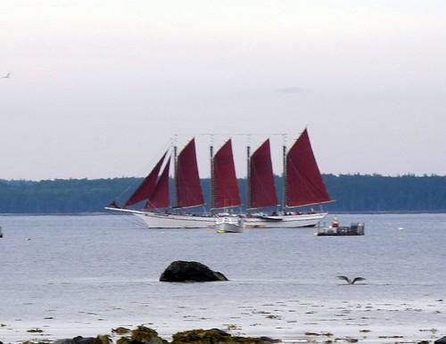 Four-masted schooner