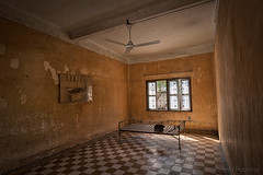 046-Cambodia (Beverly Houwing) Tags: school bed cambodia classroom room communism torture phnompenh isolation hdr imprisonment s21 interrogation khmerrouge tuolsleng polpot kampuchea genocidemuseum