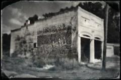 Coke is it (Neal3K) Tags: coke bank meansville georgia vintagebuilding bricks tintype hipstamatic bw blackwhite