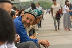 Shanghai streets 15 (stevefge) Tags: bund china shanghai people candid men smile