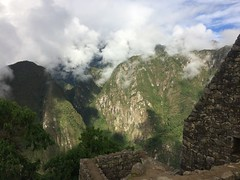 Glimpse of Sun & Fast Moving Clouds - IMG_3803 (Toby Garden) Tags: machu picchu ruins peru mysterious cloudy day
