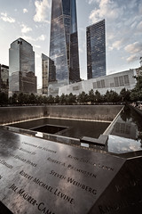 Another perspective (gcraig3si) Tags: nyc 911memorial worldtradecenter freedomtower southtowerpool