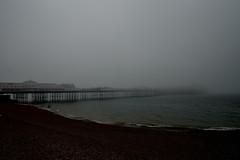 Brighton Pier (phrada_kendi) Tags: brighton pier brightonpier fog sea seafront waves sigma sigma1735mm 1735mm nikon nikond3300 d3300 nature view landscape photography begginer amateur holidays summer morning beach stones horizon
