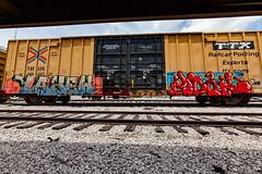 (o texano) Tags: houston texas graffiti trains freights bench benching yahew mook mhc nfm stk