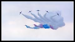 IMG_0642 Red Arrows (scotchjohnnie) Tags: redarrows rafdisplayteam baehawk hawkt1 airdisplay flyingdisplay sunderlandairshow2016 northeastengland tynewear aviation aircraft airplane canon canoneos canon7dmkii canonef100400f4556lisusm scotchjohnnie