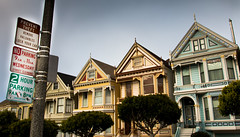 The painted Ladies Dirty Secret (donminer) Tags: paintedlaidies fullhouse televisionstar architecture sign trees street sky