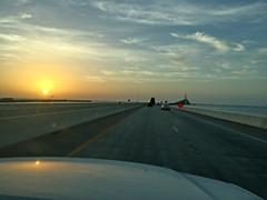 Sunshine Skyway Bridge in Tampa, Florida (soniaadammurray - OFF) Tags: sunshineskywaybridge quote wikipedia sunset driving nature bird sky road bridge sun clouds sea iphone