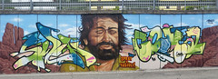Spray & Fagioli (aeroescrew) Tags: coma swen aeroes aeroescrew graffiti wall production budspencer