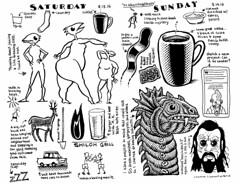 My weekend (Don Moyer) Tags: weekend diary ink drawing moleskine notebook moyer donmoyer brushpen boris coffee selfportrait