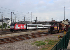 CFL 4001 & CFL 1032, Bettembourg 10.05.2014 (Trainspotting-Wiki) Tags: cfl 4001 1032 bettembourg luxembourg lorazur nice portbou