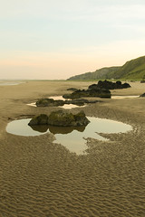 St Cyrus Beach (foggybummer (Keith)) Tags: lowtide beach cliffs evening expance ripples rocks sand