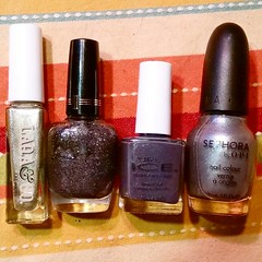 Dear Internets: I have #decisionfatigue and so I can't decide which color: Laqa&Co, Milani, Pure Ice, or Sephora. What's your pick? #nailpolish (Jenn ) Tags: ifttt instagram