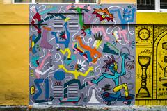 ...  Los alegres skaters filokubistas .... (Lanpernas 4.0) Tags: skaters comic paint graffiti streetart urbanart art arte donostia tneldabadaba 2016