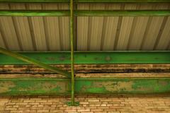 green tracks (sparkleOven) Tags: green verde city ciudad decay urbandecay brick ladrillo abandonado abandoned building edificio arquitecture color