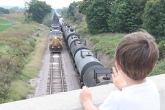 Roll by (MILW157) Tags: up union pacific hoard road bridge train track railroad adams sub rock siding
