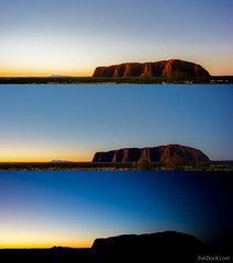 Uluru & Kata Tjuta Sunset II (lapse) (@PAkDocK / www.pakdock.com) Tags: trip travel viaje pink blue light sleeping sunset red summer sky naturaleza luz sol nature colors rock azul giant de landscape golden timelapse rocks long exposure mood desert angle time cuento outdoor dusk space empty sony awesome voigtlander wide australian scenic australia paisaje explore cielo hour hora stunning desierto uluru kata tjuta northern ayers puesta landschaft sunst 15mm tale gigante breathtaking lapse territory viajar triptico triptic dormido anangu dorada a6000 pakdock wwwpakdockcom