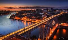Oporto - Blue Hour (paulosilva3) Tags: bridge blue portugal canon landscape eos twilight cityscape 4 f lee hour l filters oporto waterscape 6d 24105mm