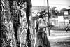 There goes the Lord! (Amlan Sanyal) Tags: people blackandwhite india faces streetphotography incredibleindia gajan charak landofgods
