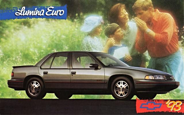 chevrolet sedan euro postcard 1993 lumina