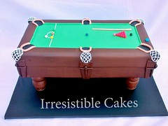 Snooker Table (Irresistible Cakes) Tags: birthday game men pool cake table 40th carved celebration 30th 50th snooker