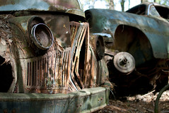Gaping (t.bae) Tags: old city classic abandoned car vintage sad faded rusted worn aged forlorn