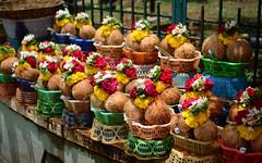 All Set to Reach God's Room (pushkarsingh27) Tags: india flower coconut pray bangalore garland mysore