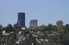 Columbia Center, Seattle Municipal Tower and 1201 Third Avenue from I-90 (SounderBruce) Tags: seattle houses skyline leschi seattlemunicipaltower columbiacenter mountbakerridge 1201thirdavenue