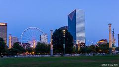 Atlanta, GA: Downtown skyline viewed from Centennial Olympic Park (nabobswims) Tags: atlanta georgia us unitedstates bluehour centennialolympicpark blauestunde nabob nabobswims