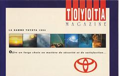 BELGIUM TOYOTA RANGE 1994 (celicacity) Tags: magazine model belgium toyota 1994 range ee90 ae92 sw20 jza80 st185 np80 lj70 hdj80 at180 ct190 st182 st191 sxv10 ep81 tcr11 st180 at190 vcv10 vzn130 kzn130