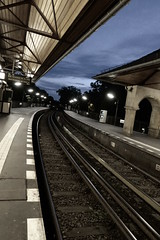 U-Bahn Station at dusk - Berlin 2015 (mArc ferr) Tags: berlin subway ubahn u12