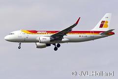 EC-LXQ 150515-0299-c2  LHR JVL.Holland (JVL.Holland John & Vera) Tags: london canon europe unitedkingdom ib lhr iberia egll ibe londonheathrowairport jvlholland eclxq airbusa320216s