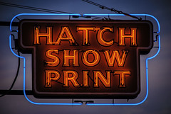 Hatch Show Print (Jim Nix / Nomadic Pursuits) Tags: travel sunset sign lights nikon downtown tn nashville dusk tennessee neonsign hatchshowprint printshop musiccity nomadicpursuits jimnix