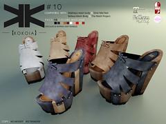 Number 10 :: Woman :: 10 Colors ({kokoia}) Tags: summer shoes mesh 10 platform sl number mid wedge belleza tmp wedges maitreya slink secondlfie kokoia themeshproject