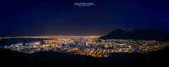 Cape Town by night (Chiara Salvadori) Tags: capepeninsula capetown lionshead longexposure nightshot signalhill southafrica tablemountain africa le sudafrica blue city colors landscape lights mountains night ocean outdoor panoramic sea spring town travel traveling winter
