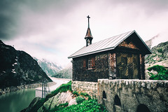 Little Church (NIOphoto.) Tags: mountain lake mountains alps building church architecture nikon little small pass tokina tiny alpen grimsel d5200