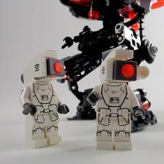 Droid Maintenance (Marco Marozzi) Tags: lego marco mecha droid moc minifigures hardsuits marozzi legodesign legomecha legomech droneuary