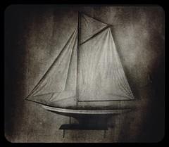 The model... (iEagle2) Tags: model boat sailingboat iphone iphone4 blackandwhite blackwhite bw