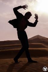 Silhouette in the Desert (Sarfraz Abbasi [0.75 million views, Thanks]) Tags: silhouette evening fuji desert jackson saudi arabia fujifilm micheal riyadh fujinon mazamiyah